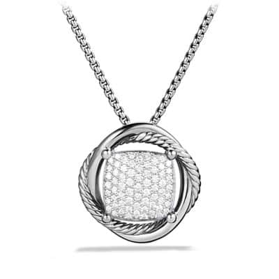 Infinity Medium Pendant Necklace with Diamonds