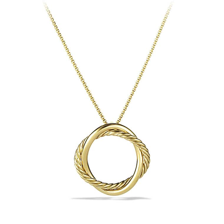 Infinity Small Pendant Necklace in Gold