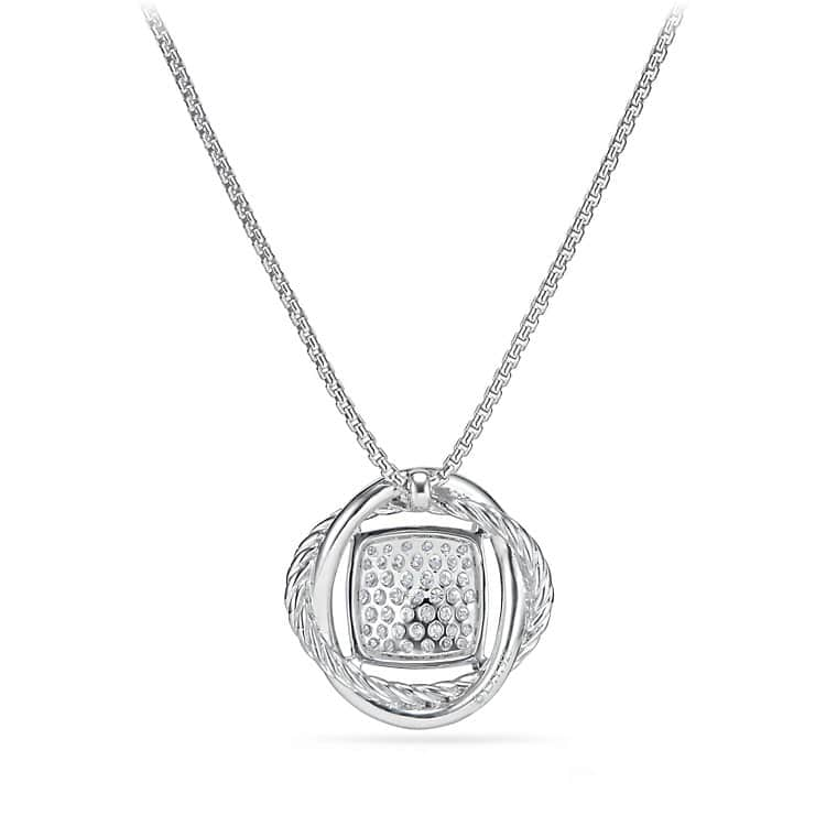 Infinity Small Pendant Necklace with Diamonds