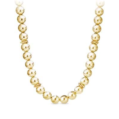 Solari Bead Necklace in 18K Gold