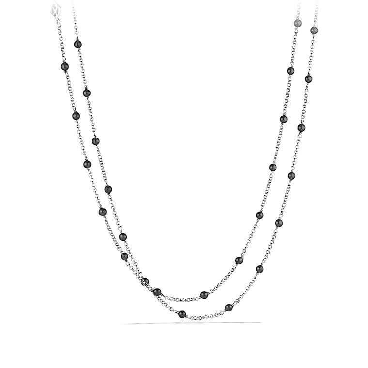 Chain Necklace with Black Onyx Beads