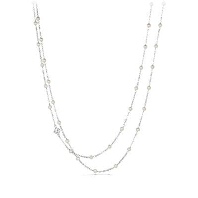 Bead Chain Necklace with Pearls