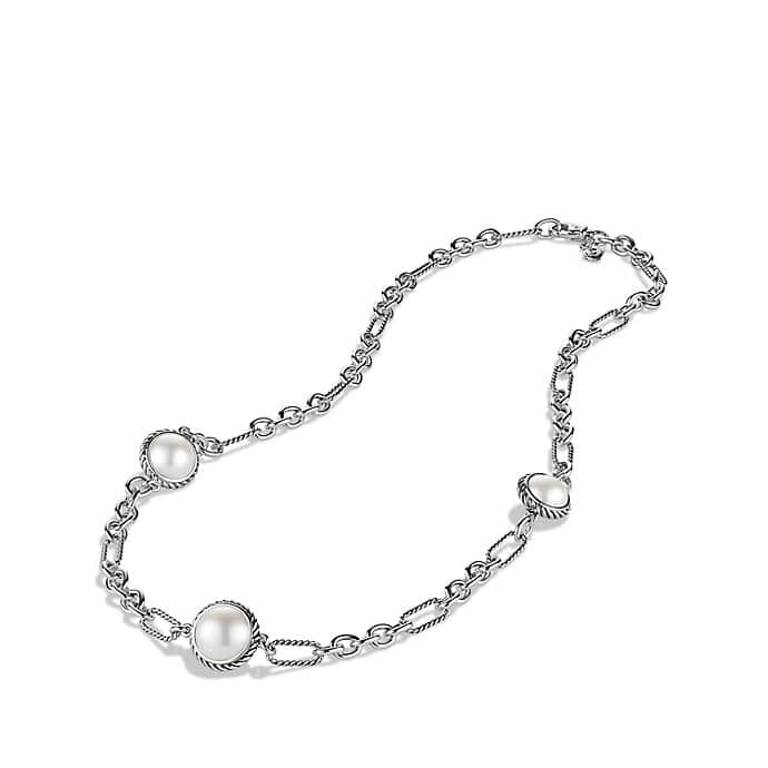 Chain Necklace with Pearls