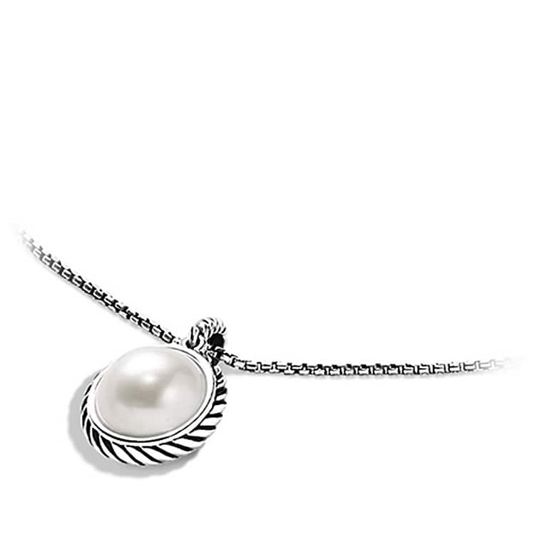 Cable Pearl Pendant Necklace
