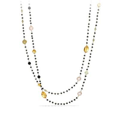 Bijoux Bead Necklace with South Sea Pearls and Citrine in 18K Gold
