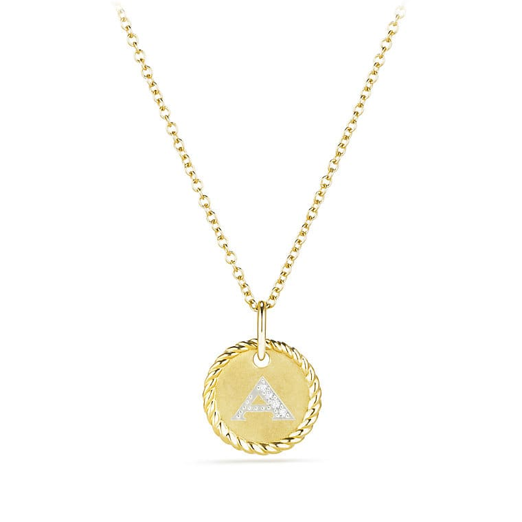 on gold jewelry over accent diamond initial watches shipping overstock necklace overlay product pendant orders free