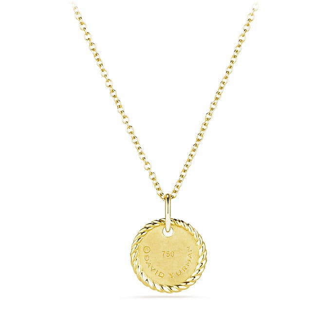Charm necklace with diamonds in 18k gold initial charm necklace with diamonds in 18k gold aloadofball Choice Image