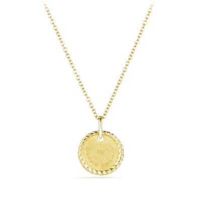 Initial Charm Necklace with Diamonds in 18K Gold