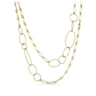 Mobile Link Necklace in 18K Gold