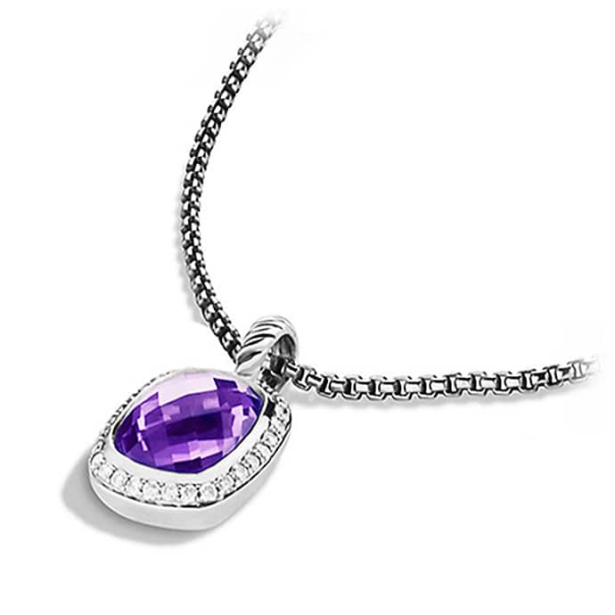Noblesse Pendant Necklace with Amethyst and Diamonds