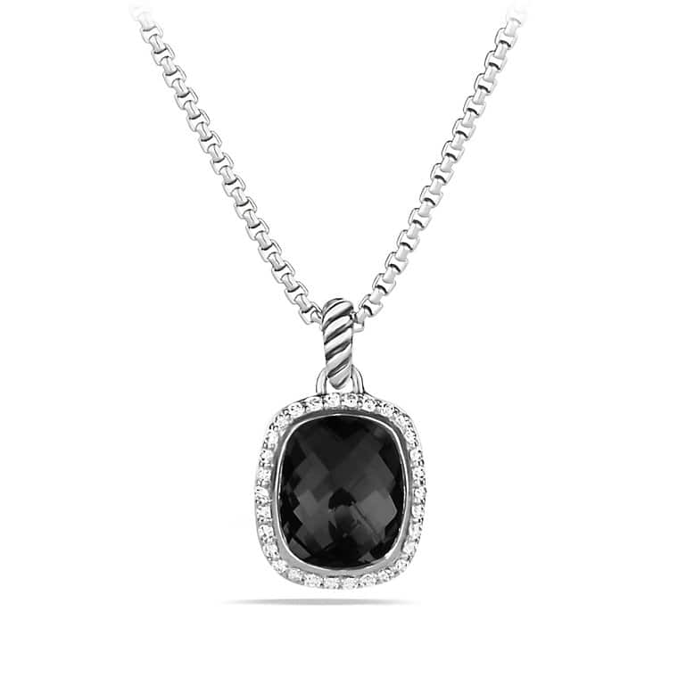 Noblesse Pendant Necklace with Black Onyx and Diamonds