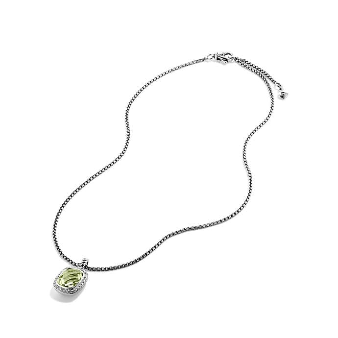 Noblesse Pendant Necklace with Prasiolite and Diamonds