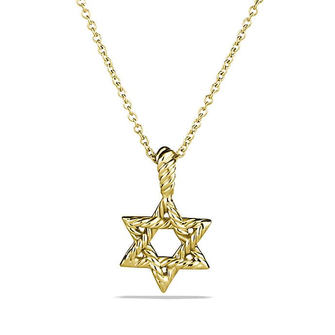 Cable Collectibles Star of David Necklace with Diamonds in 18K Gold