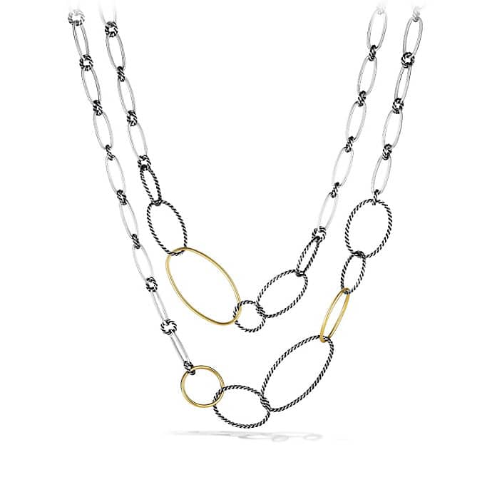 Mobile Link Necklace with Gold