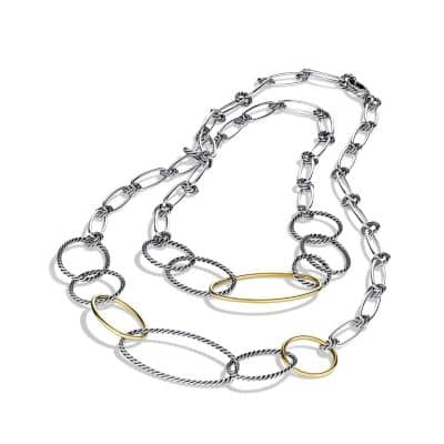 Mobile Link Necklace with 18K Gold