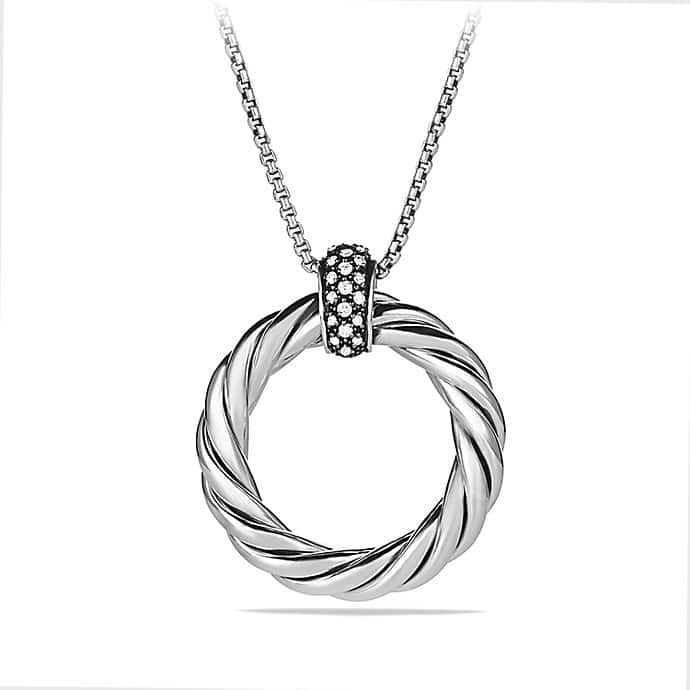 Cable Classics Large Pendant Necklace with Diamonds