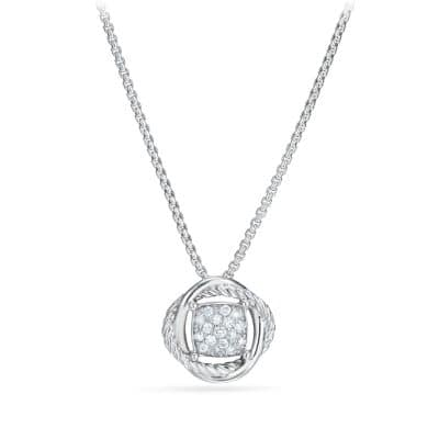 Infinity Pendant Necklace with Diamonds thumbnail