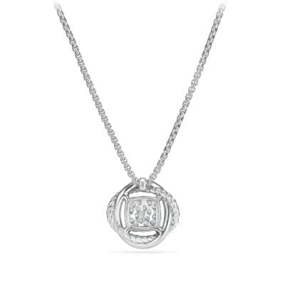 Infinity Pendant Necklace with Diamonds