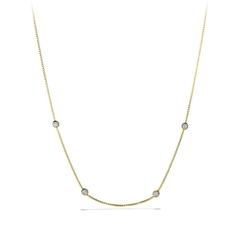 Chain Necklace with Diamonds in 18K Gold
