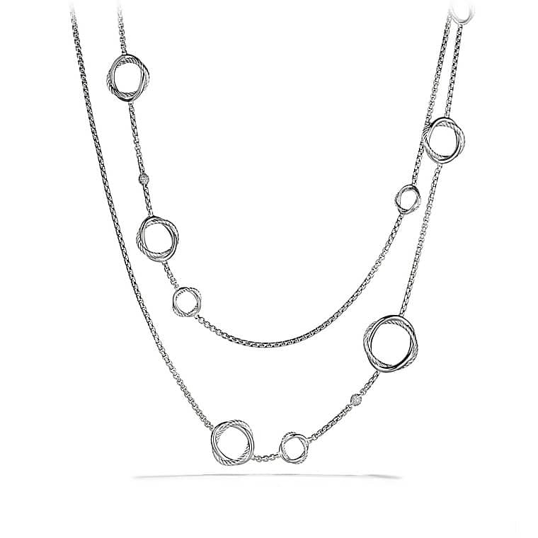 Infinity Station Necklace with Diamonds