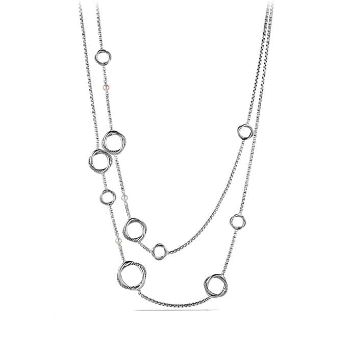 Infinity Station Chain Necklace with Pearls