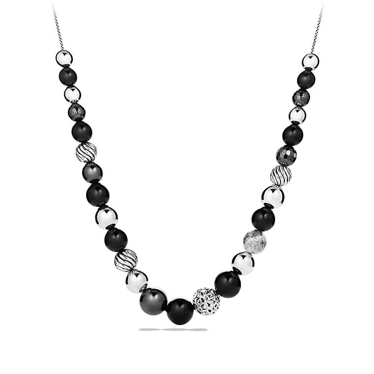 DY Elements Necklace with Black Onyx and Hematine