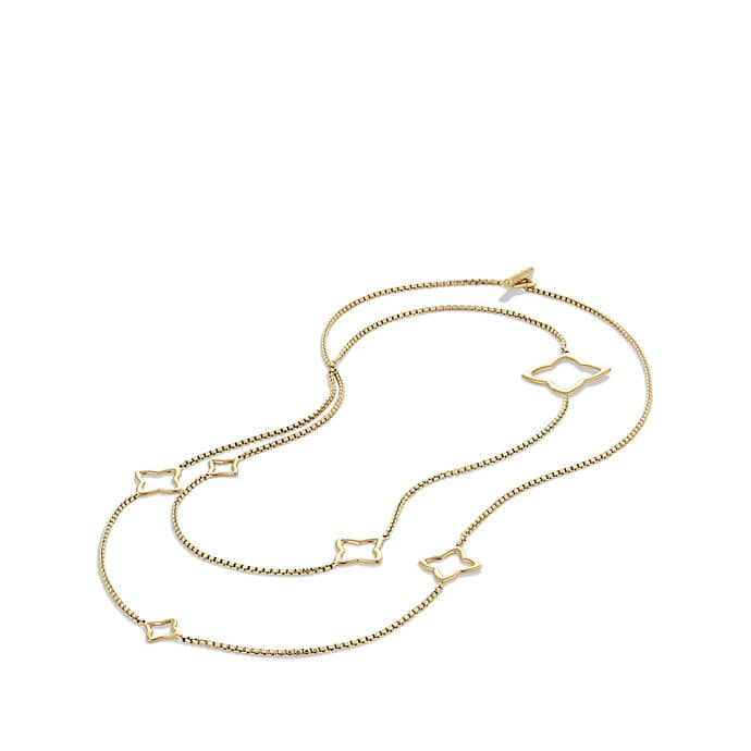 Quatrefoil Chain Necklace in Gold