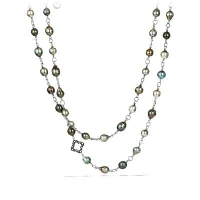 Bead and Chain Necklace with Pearls and Diamonds