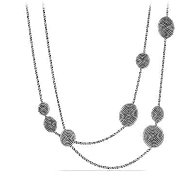Cable Coil Chain Station Necklace