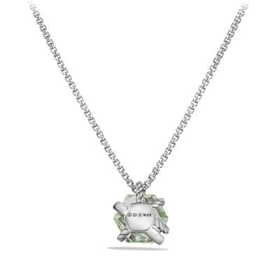 Necklace with Prasiolite and Diamonds