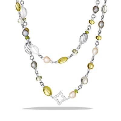 Bead Necklace with Lemon Citrine and Pearls thumbnail