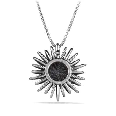 Starburst Large Pendant Necklace with Diamonds
