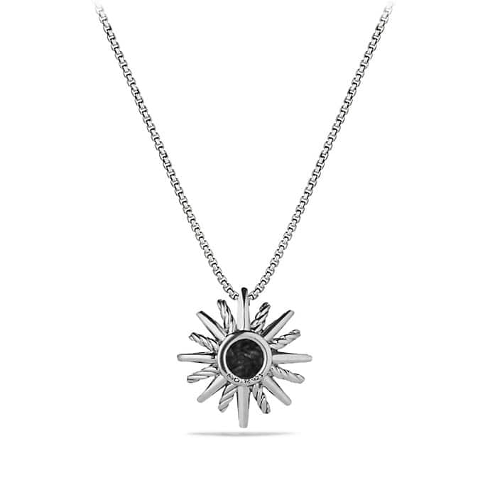 Starburst Small Pendant Necklace with Diamonds