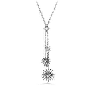 Starburst Y Necklace with Diamonds