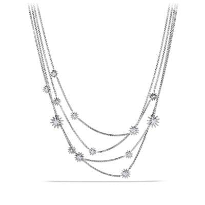 Starburst Chain Necklace with Diamonds