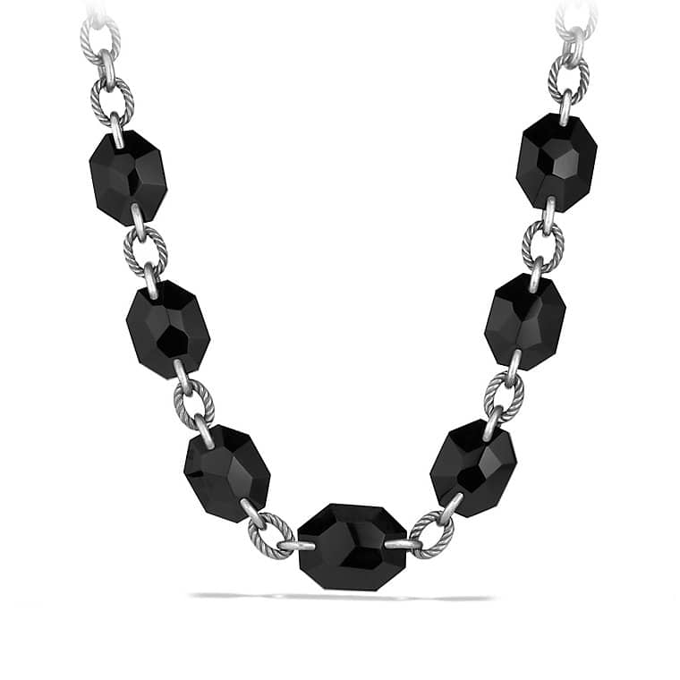 DY Signature Collection Necklace with Black Onyx and Black Diamonds