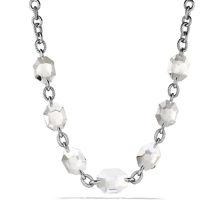 DY Signature Collection Necklace with Crystal and Diamonds