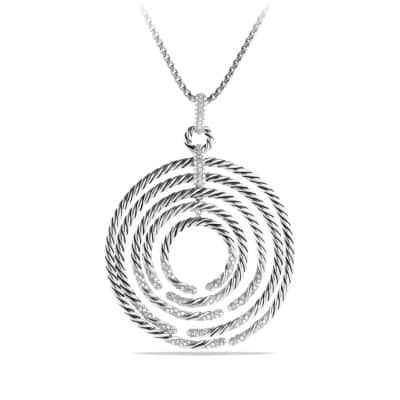 Willow Pendant Necklace with Diamonds