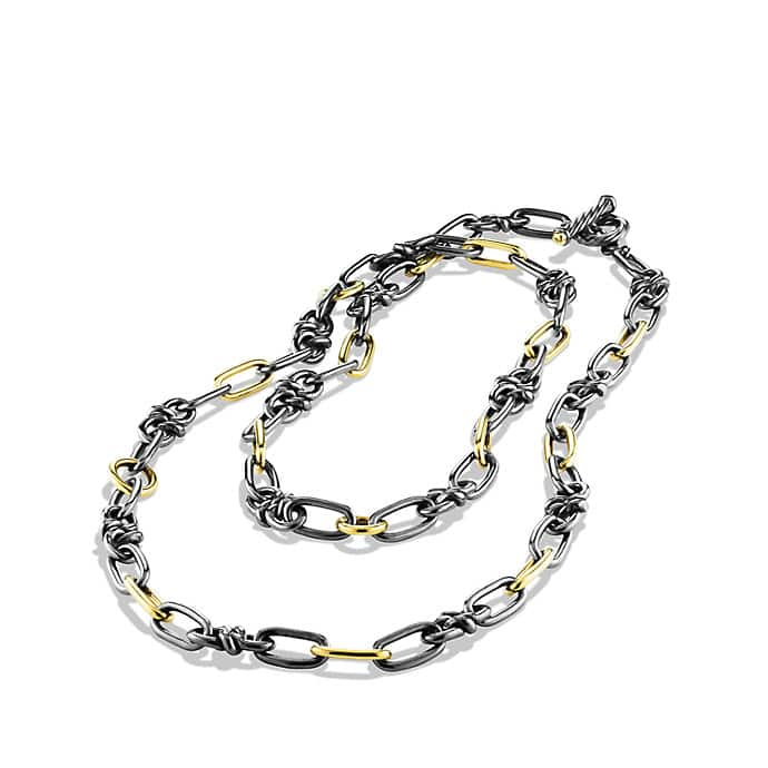 Black & Gold Link Necklace