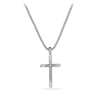 Willow Cross Necklace with Diamonds