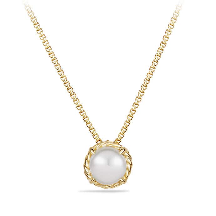 Châtelaine Pendant Necklace with Pearl in 18K Gold