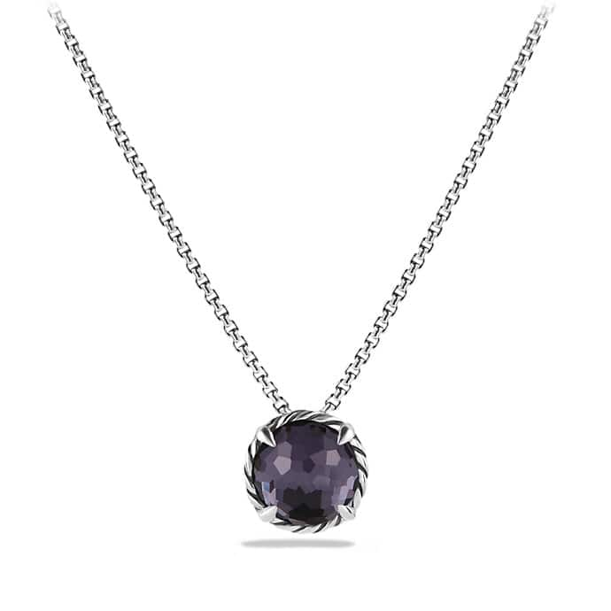 Châtelaine® Pendant Necklace with Black Orchid