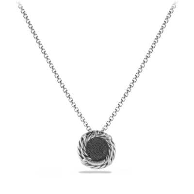 Châtelaine Pendant Necklace with Black Orchid