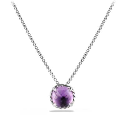 Châtelaine Pendant Necklace with Amethyst