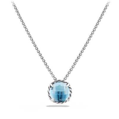 Châtelaine® Pendant Necklace with Blue Topaz