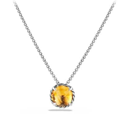 Chatelaine Pendant Necklace with Citrine