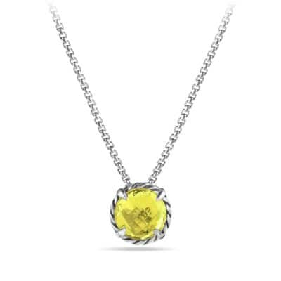 Chatelaine Pendant Necklace with Lemon Citrine