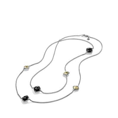 Chatelaine Necklace with Black Onyx and Gold