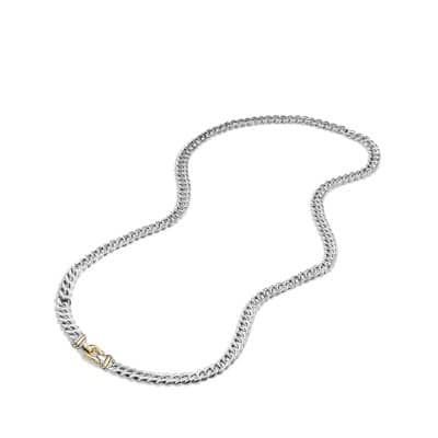 Cable Buckle Chain Necklace with 14K Gold