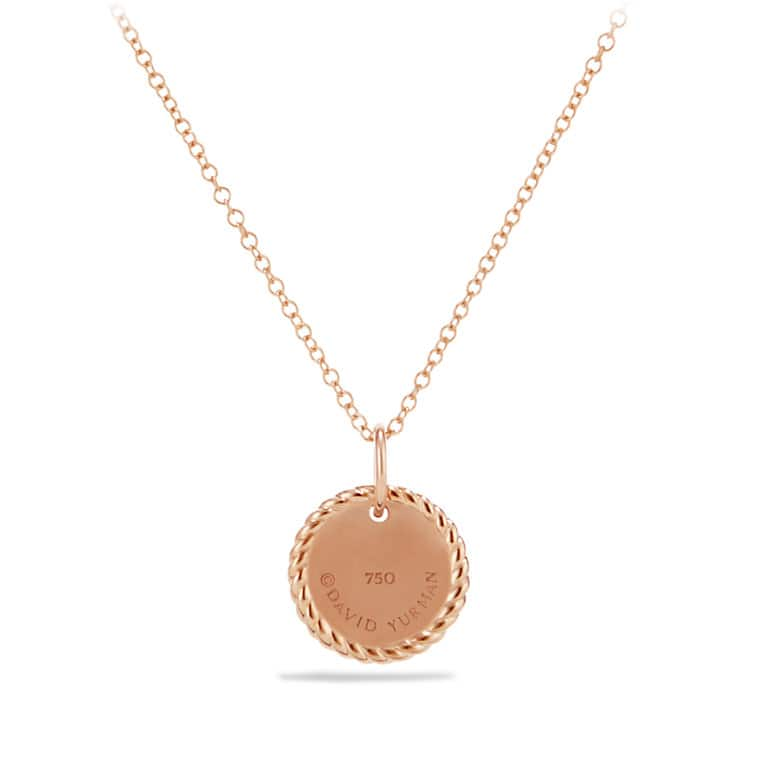 Petite Pavé Necklace with Diamonds in 18K Rose Gold